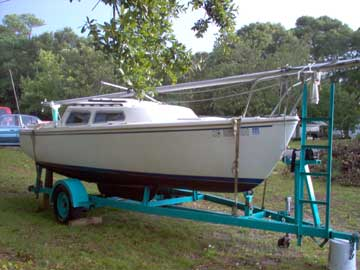 1973 Catalina 22 Sailboat For Sale