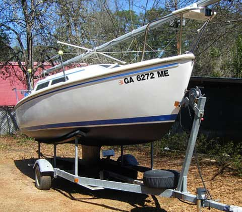 Catalina 22 wing keel sailboat for sale