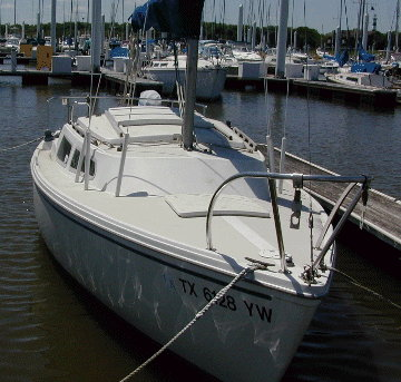 1977 Catalina 22 deck