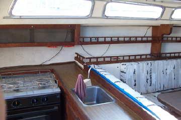 1976 Catalina 30 galley