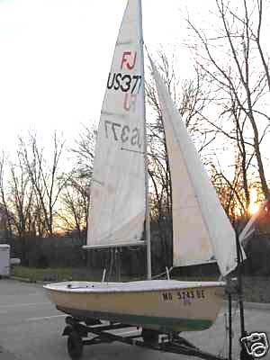 Flying Junior sailboat