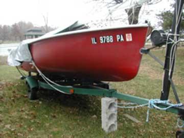1960's Flying Scot sailboat