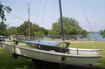 1983 Hobie 14 sailboat