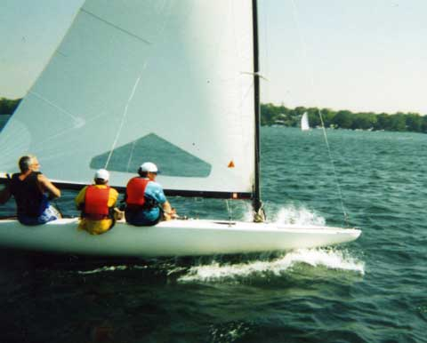 Johnson C Scow sailboat