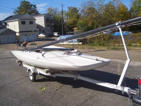 Johnson C Scow sailboat