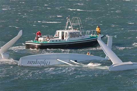 L'Hydroptere hydrofoil sailboat