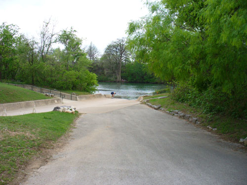 Culvert behind Austin High School